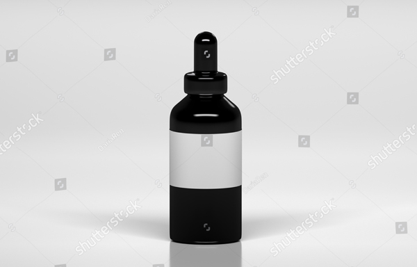 Mock-up of Black Vape Bottle