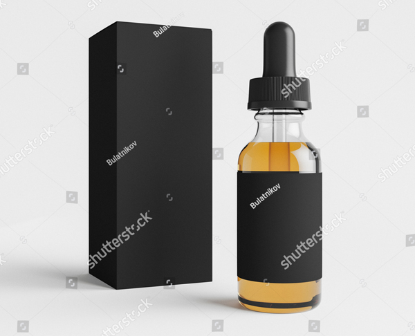 Mockup of Vape Bottle Mockup