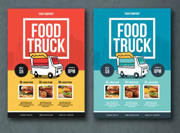 Modern Food Truck Flyer Template