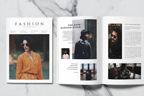 Modern Simple Men's Fashion Magazine Template