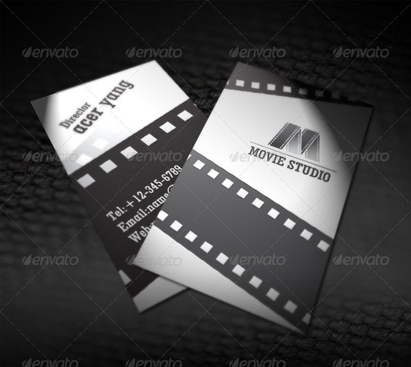 Movie Studio Business Card Template