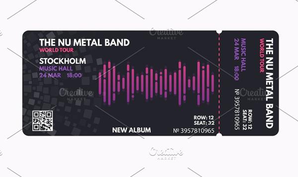 Music Concert Ticket