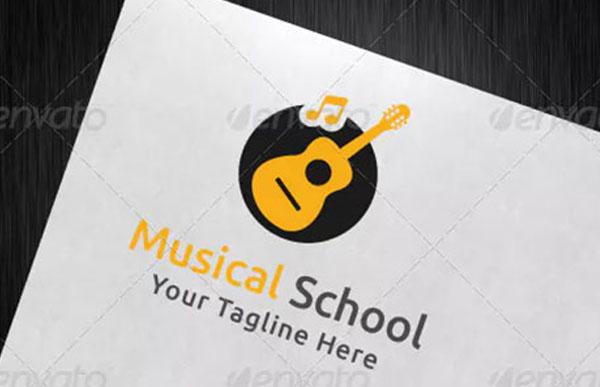 Musical School Logo Template
