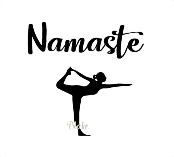Simple Printable Yoga Logo Design Template