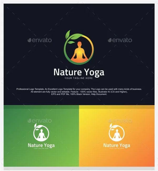 Nature Yoga Logo Design