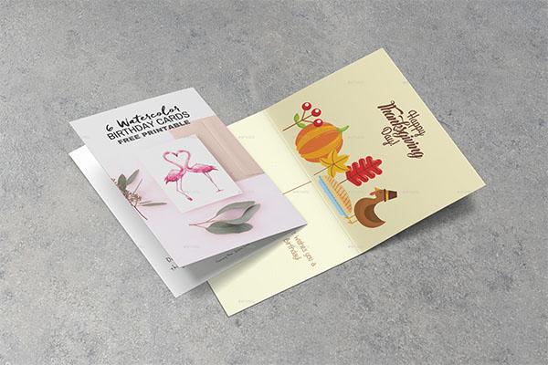 New Invitation & Greeting Card Mockup