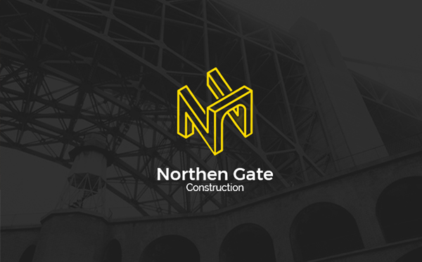 Northen Gate Construction Company Logo Template