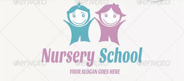 Nursery School Logo Template