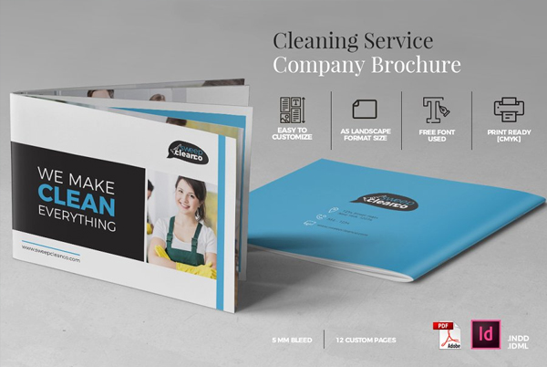Office Cleaning Brochure Design Template