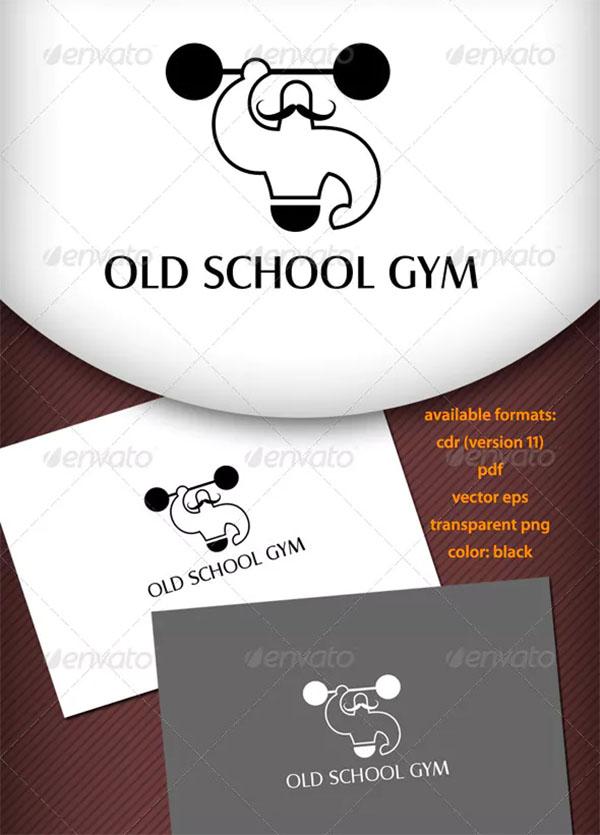Old School Gym Logo Template