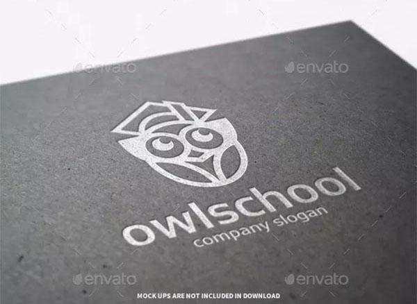 Owl School Logo Template