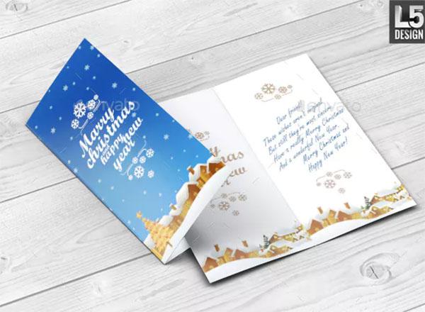 PSD Invitation & Greeting Card Mockup Template