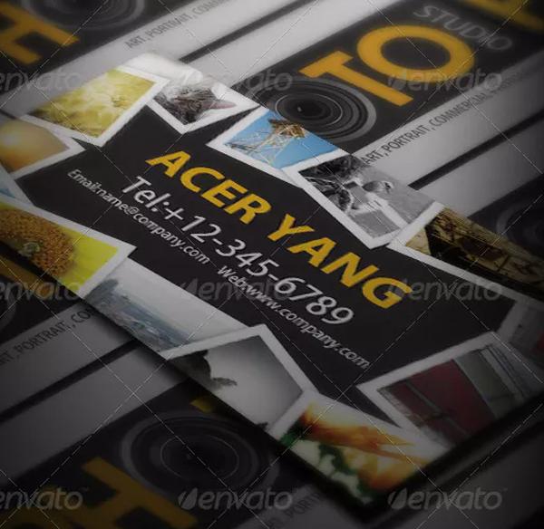 Photo Studio Business Card Template