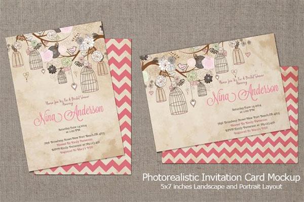 Photoshop Invitation Card Mockup
