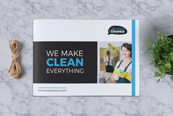Printable Cleaning Service Company Brochure