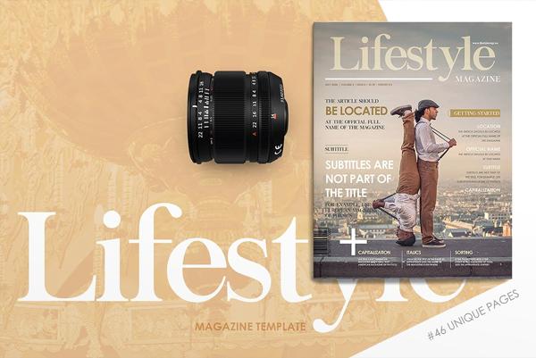 Printable Lifestyle Magazine Design Template
