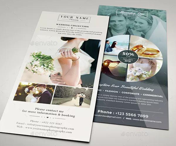 Printable Wedding Photography Rack Card