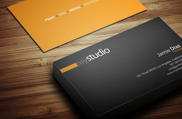 Professional look for Studio Business Card Template