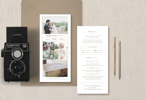 Rack Card Template for Photographers