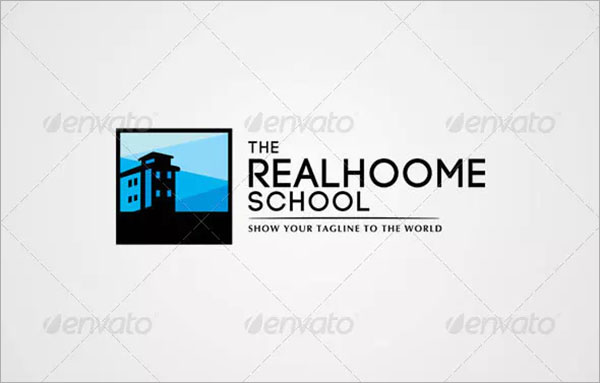 Real Home School Logo Template