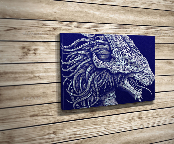 Realistic Canvas Poster Mock-Up