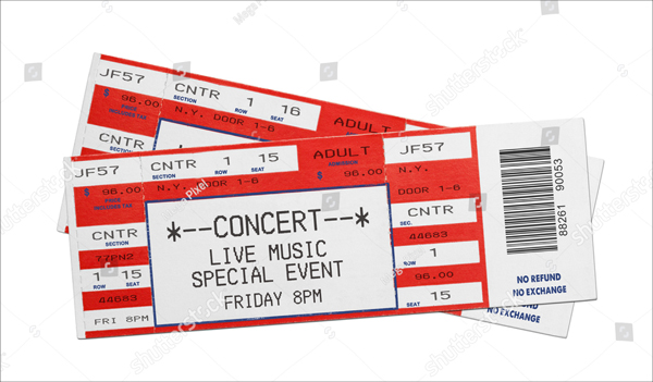 Red Concert Performance Tickets