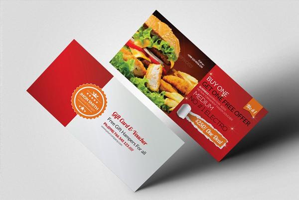Restaurant Food Gift Voucher Design Template