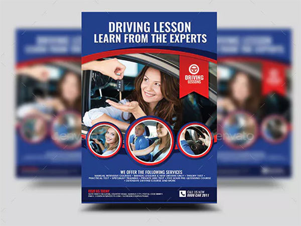Safe Driving Lesson Services Flyer