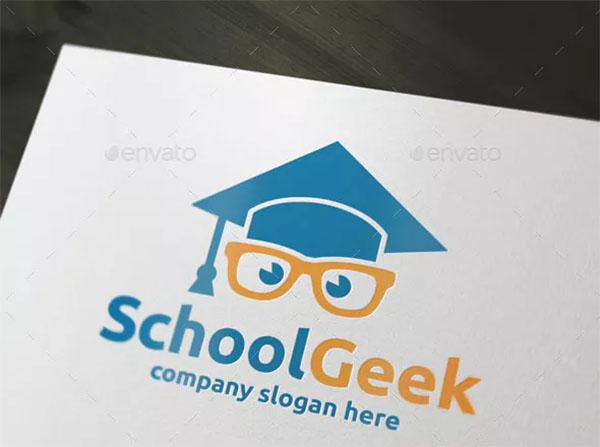 School Geek Logo Template