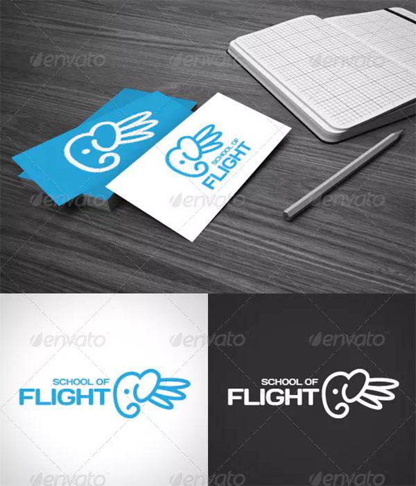 School of Flight Logo Template