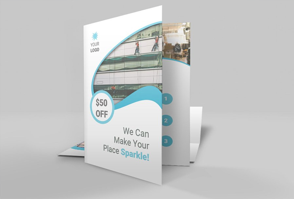 Simple Cleaning Brochure Template