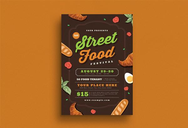 Simple Modern Street Food Festival Flyer