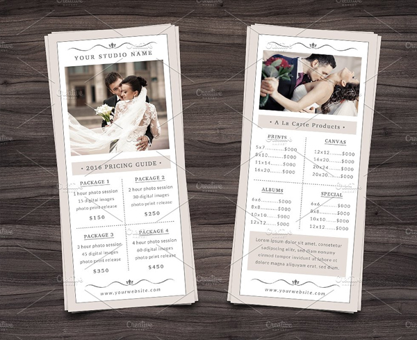 Simple Photography Rack Card Template