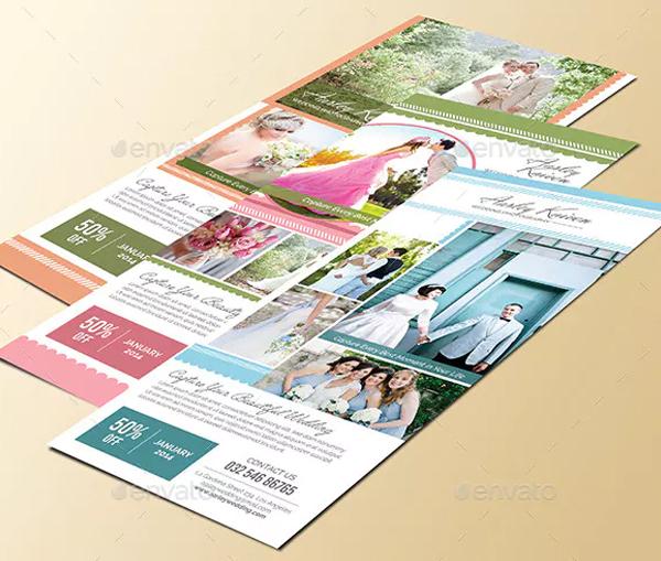 Simple Wedding Photography Rack Card Design