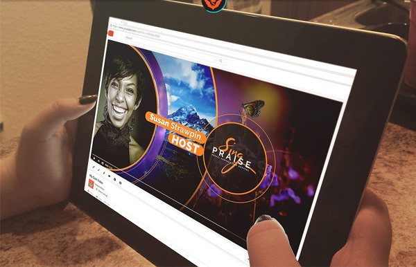 Sing Praise YouTube Video Artwork Template