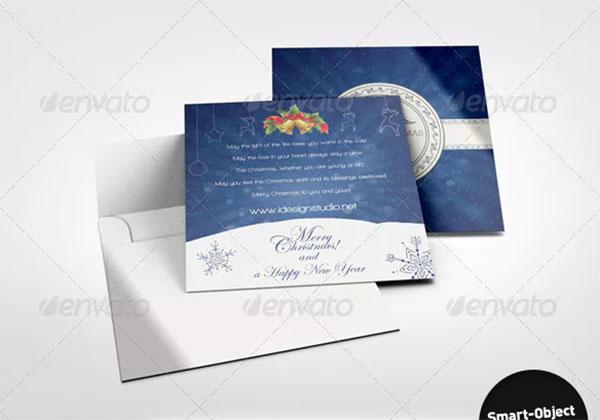 Square Greeting Card Mockup