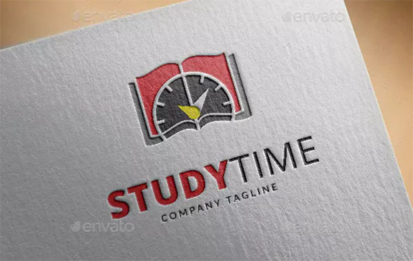 Study Time Logo Template