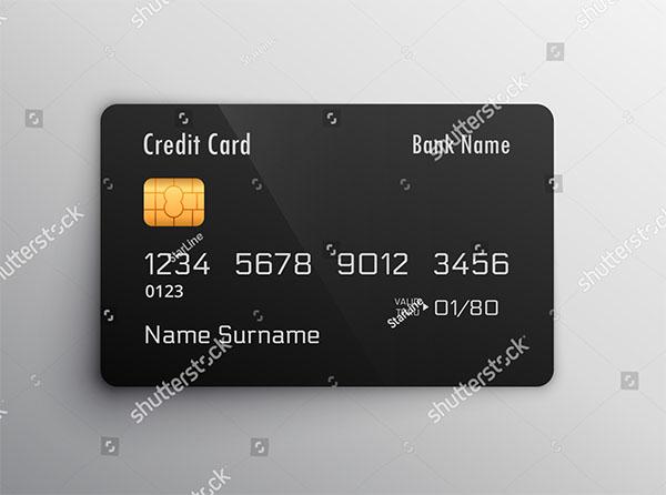 Vector Credit Debit Card Mockup