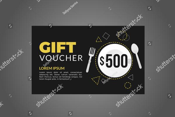 Vector Design Food Gift Voucher Template