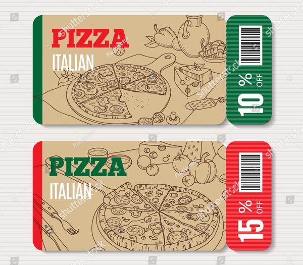 Vector Pizza Gift Voucher Template
