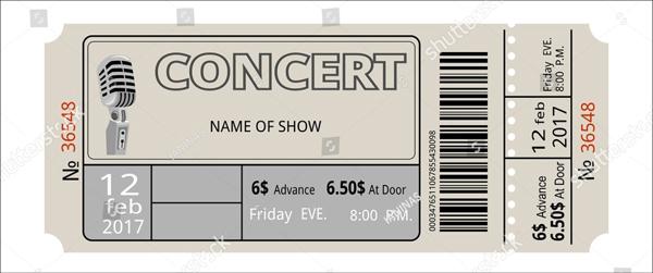 Vector Ticket Concert Template
