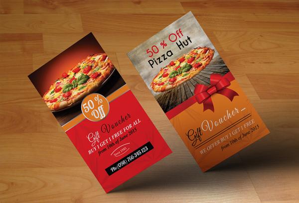 Vertical Pizza Restaurant Gift Vouchers