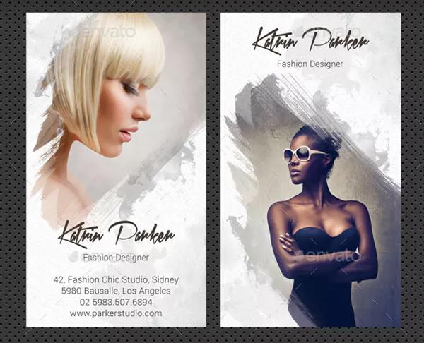 Watercolor Fashion Studio Business Card Template