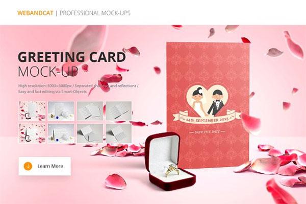 Wedding Invitation and Greeting Card Mock-Up