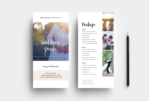 Wedding Photographer DL Card Template