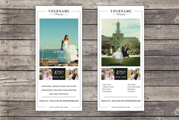 Wedding Photography Marketing Rack Card Template