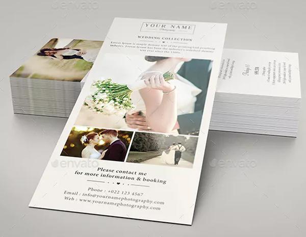 Wedding Photography Rack Card Design Template