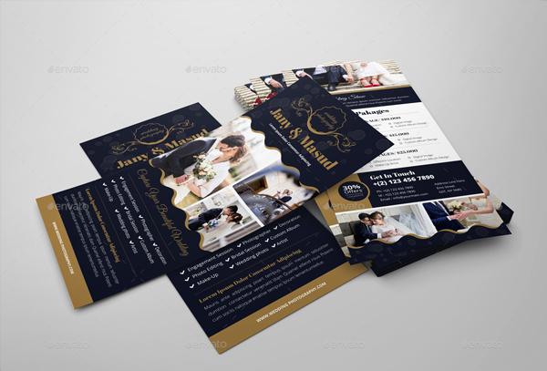 Wedding Photography Rack card Design Templates