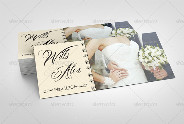 Wedding Rack Card Template
