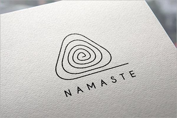 Beautiful Yoga Logo Design Template